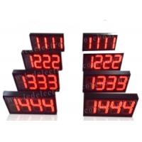 China Semi - Outdoor Digital Price Sign Gas Station Regular Red Color 12'' 300mm wholesale