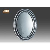 China Oval Industrial Style Fiberglass Furniture Silver Mosaic Glass Framed Wall Mirror wholesale
