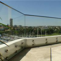 China Outdoor Frameless Balcony Glass Balustrade with Stainless Steel Glass Standoff wholesale