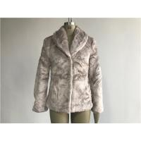 China Mink Ladies Fake Fur Coats / Faux Fur Reverse Collar Luxe Coat TW64896 wholesale