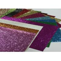 China Eco Friendly Craft A4 Size Pu Glitter Fabric Sheet Metallic Glitter Fabric wholesale