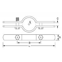 Steel Galvanised Riser Clamp with Bolt, Pipe Holder UL Standard
