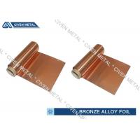 China ISO Standard Phosphor Bronze Foil / Alloy Foils with protective Surface coatings wholesale