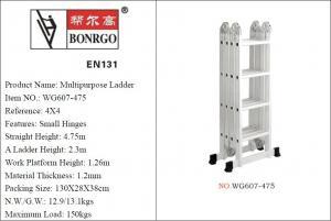 China EN131 4x4 4.75m Folding Aluminium Scaffold Tower wholesale