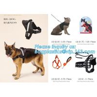 China BIG DOG HARNESS, Custom Logo Nylon Rope Pet Dog Leash and Harness Set, size/logo/color no pull easy walk puppy big Dog H wholesale