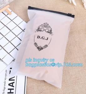 China Apparel Garment Clothing package PE slider zip bag, zipper ziplock packaging bags with slider zipper,pvc packaging bags wholesale