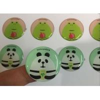 Quality Custom printing self adhesive round epoxy dome resin gel sticker for sale