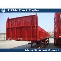 China Double axles drop deck Flatbed Semi Trailer with pins and side wall detachable on sale