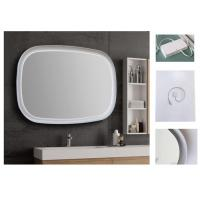 China Warm Light LED Bluetooth Demister Bathroom Mirror With Explosion Proof Surface wholesale