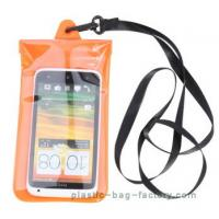 China Soft PVC Waterproof Pouch Bag Colorful Cover Guaranteed Submersible To 19ft / 6m wholesale