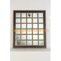 China China supplier mordern design grid shape wood frame wall mirror for home decor wholesale