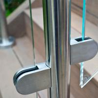 China Frameless Glass Guard Deck Railing with Solid Clamps Made In China wholesale