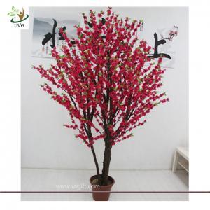 China UVG CHR069 Decorative Christmas Tree Stands Wedding Cherry Flowers larger bonsai wholesale
