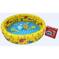 China Yellow Inflatable Swimming Pools , Plastic Air Bath Pool For Kids wholesale