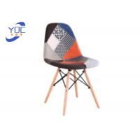 China Modern Cloth Art Cafe Commercial Restaurant Chairs Spliced Fabric Decoration wholesale