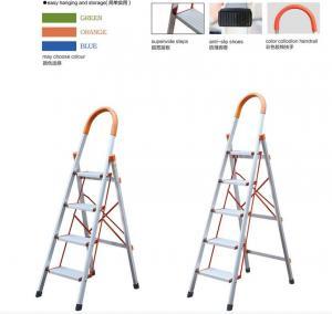 China Foldable En131 1.0mm 6063A Aluminum 5 Step Ladder wholesale