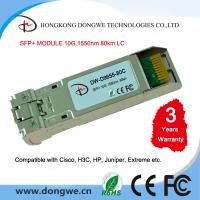 China SFP-10G-ZR, 10G SFP Plus 1550nm 80km with Duplex LC DDM SMF module wholesale