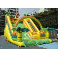 China Outdoor Giant Tropical Rain Forest Inflatable Slide For Adults And Kids wholesale