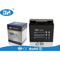 China Small Rechargeable Sealed Lead Acid Battery Black Lightweight Acid Resistance on sale