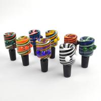China 14mm Color Mix glass bong bowl , Male Bowl Piece for Water Pipe Daily Use wholesale