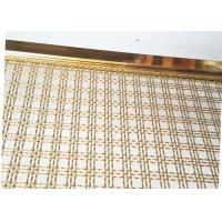 China Decoration Square Hole Type Handrail Balustrade Weave Mesh With Gold Color Frame wholesale