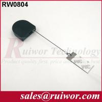 China RUIWOR RW0804 D-shaped Mini Anti-theft Recoiler with Clinging Dog Tag End wholesale
