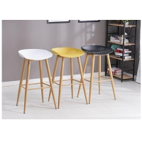 China Natural Pub Height Bar Stools Simple Silhouette With Wood Leg wholesale