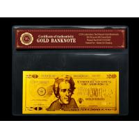 Quality Gold art USA $20 gold dollar bill plated in gold 999.9 banknotes for sale