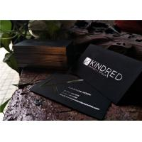 Premium Black And Silver Business Cards , Velvet Feel Business Cards Lightweight
