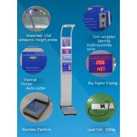 Quality Bmi Analysis Digital Height And Weight Scale Coin Operated 1 Year Warranty for sale