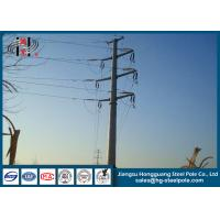 China 110KV Steel Tubular Pole , Double Circuit Transmission Line Electric Poles wholesale