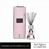 China silver cap square bottle reed diffuser with ribbon pink folding box wholesale