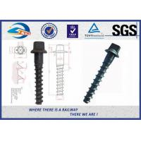 China Ss8 Railway Spike Q235 Sleeper Screw Spike SGS standard ISO898-1 wholesale