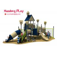China Children Outdoor Playground Slides , Plastic Material Kids Outdoor Playground With Slide wholesale
