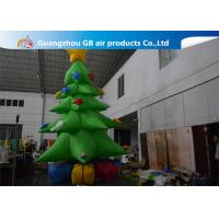 China Customized Giant Inflatable Christmas Tree Yard Decoration , Inflatable Tree With Ornaments wholesale
