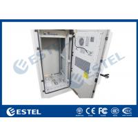Quality 27U Air Conditioner Cooling Outdoor Control Cabinet Galvanized Steel Double Wall for sale