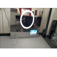 China Custom Size Bath Mirror Tv , IP68 Waterproof Dielectric Glass Tv Mirror Scratch Resistance wholesale