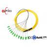 China APC Fiber Pigtails Patch Cords , 12 Colors Bundle LC Pigtail Single Mode wholesale
