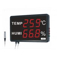 High Stability Digital Thermometer Hygrometer External Alarm Metal Acrylic Material