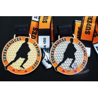 China 10k Custom Sports Medals With Soft Enamel Sublimated Ribbon For Canada Hockey Baseball Racking wholesale