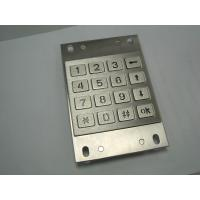 Quality Backlight Vandalproof ATM Pin Pad / Stainless Metal Keypad For Bank for sale