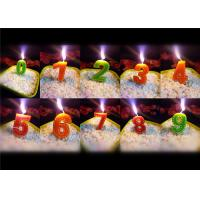 Quality Beauty Stitches Printed Numerical Birthday Candles White Short Line Border Wax wholesale