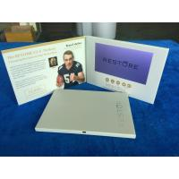China Custom printed designs lcd display cards 7'' lcd screen video brochure video mailer video postcard video marketing book on sale