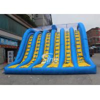 China Hit and Run 6 lanes giant inflatable adult slide for outdoor mud run adventure wholesale