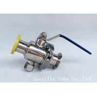 China Dn25 Tp316l Threaded Ball Valve Bpe Valves Sanitary Valves And Fittings Polsihed wholesale