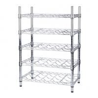 China Wine Bottle Cradle Stainless Steel Kitchen Shelves For Bottle Collection Securely Store wholesale