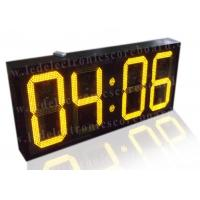 China 20 Inch Yellow Color Commercial Digital Clock , Led Display Clock 88 / 88 Format wholesale