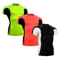 Buy cheap Sun Protection Custom Rash Guard , Short Sleeve Swim Shirt Without Heavy Ink from wholesalers
