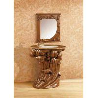 Quality Classic Resin Bathroom Cabinet With Mirror Hotel Decoration Furniture for sale