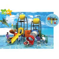 China Commercial Long Slip And Slide , Commercial Pool Slides High Aquatic Paradise Activities wholesale